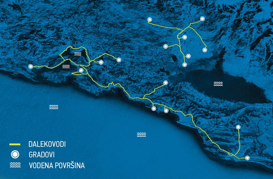 Mapa nove optičke mreže u Crnoj Gori